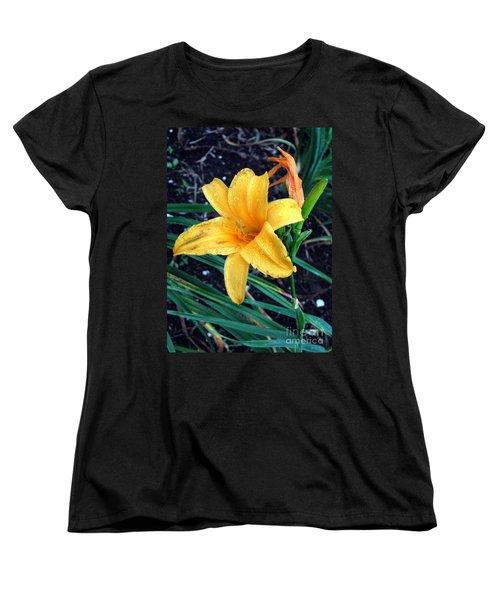 Yellow Flower Women's T-Shirt (Standard Cut) by Sergey Lukashin