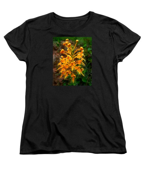 Women's T-Shirt (Standard Cut) featuring the photograph Wild Yellow Fringed Orchid by William Tanneberger