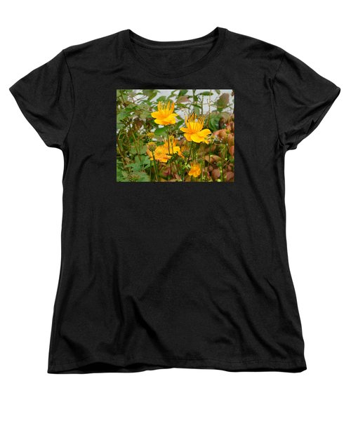 Women's T-Shirt (Standard Cut) featuring the photograph Yellow Is Golden by Lew Davis