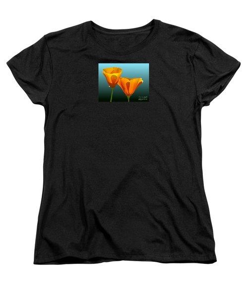 Yellow Poppies Women's T-Shirt (Standard Cut)