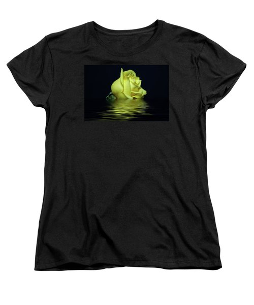 Yellow Rose II Women's T-Shirt (Standard Cut) by Sandy Keeton