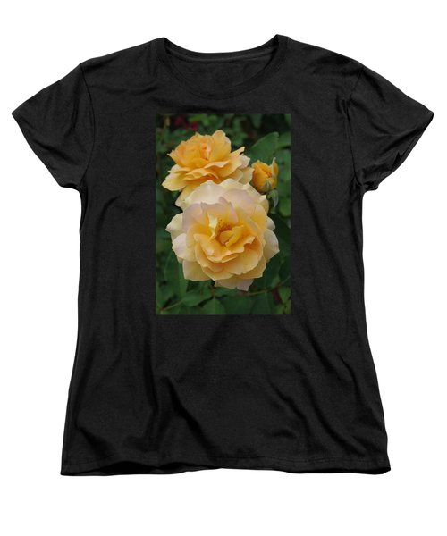 Women's T-Shirt (Standard Cut) featuring the photograph Yellow Roses by Marilyn Wilson