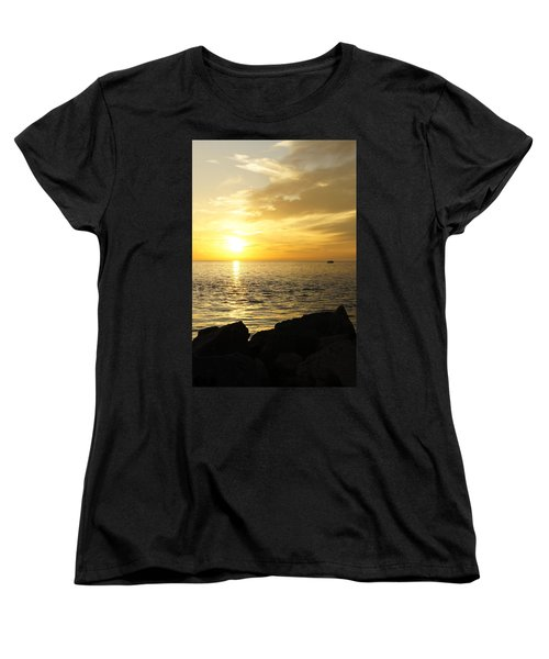 Yellow Sky Women's T-Shirt (Standard Cut) by Laurie Perry