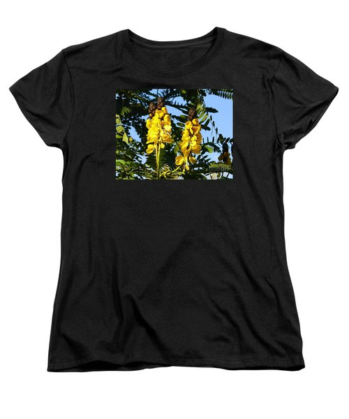 Women's T-Shirt (Standard Cut) featuring the photograph Yellow Twins by Lew Davis