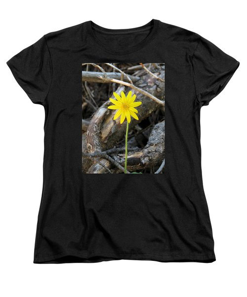 Women's T-Shirt (Standard Cut) featuring the photograph Yellow Wildflower by Laurel Powell