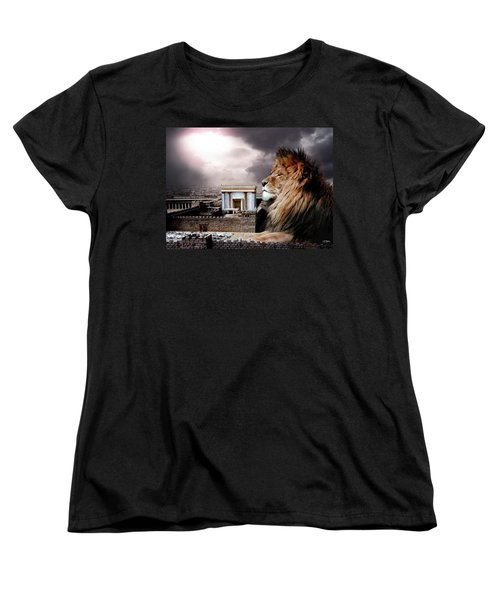 Yeshua In The Outer Court Women's T-Shirt (Standard Cut) by Bill Stephens
