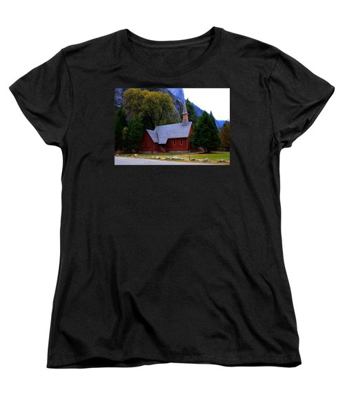 Yosemite Fall  Chapel  Women's T-Shirt (Standard Cut) by Duncan Selby
