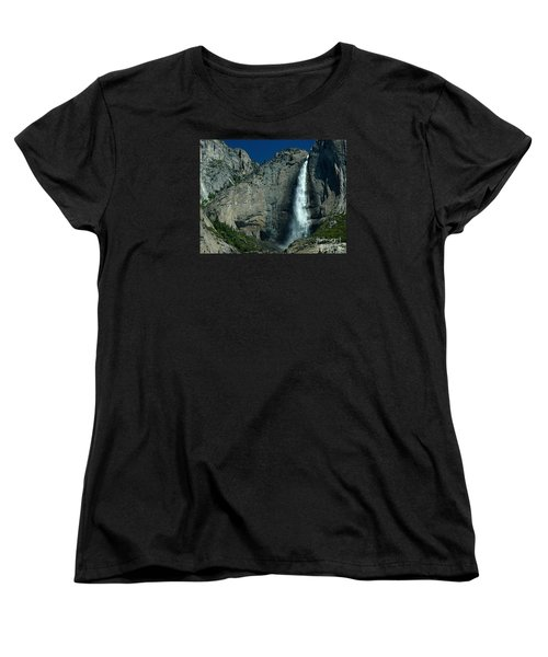 Women's T-Shirt (Standard Cut) featuring the photograph Yosemite Falls by Nick  Boren