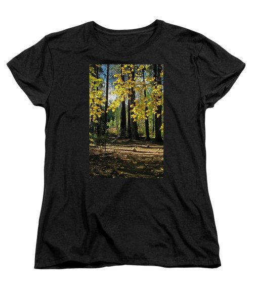 Women's T-Shirt (Standard Cut) featuring the photograph Yosemite Fen Way by John Haldane