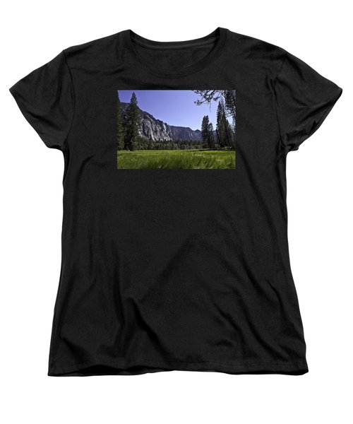 Women's T-Shirt (Standard Cut) featuring the photograph Yosemite Meadow by Brian Williamson