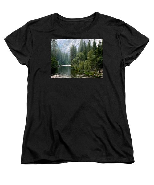 Women's T-Shirt (Standard Cut) featuring the photograph Yosemite National Park by Laurel Powell