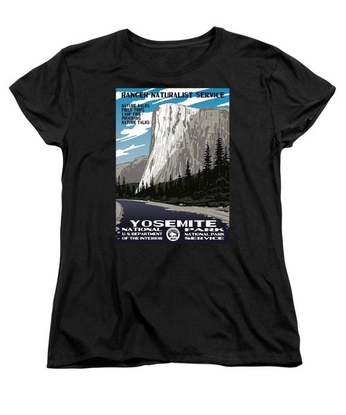 Yosemite National Park Vintage Poster 2 Women's T-Shirt (Standard Cut) by Eric Glaser