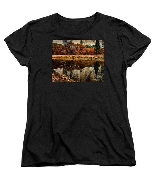 Yosemite Reflections Women's T-Shirt (Standard Cut) by Terry Garvin