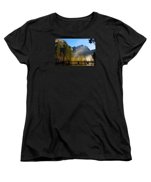 Yosemite River Mist Women's T-Shirt (Standard Cut) by Duncan Selby