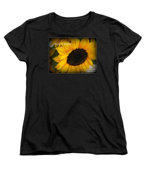 You Are My Sunshine - Greeting Card Women's T-Shirt (Standard Cut) by Dora Sofia Caputo Photographic Art and Design