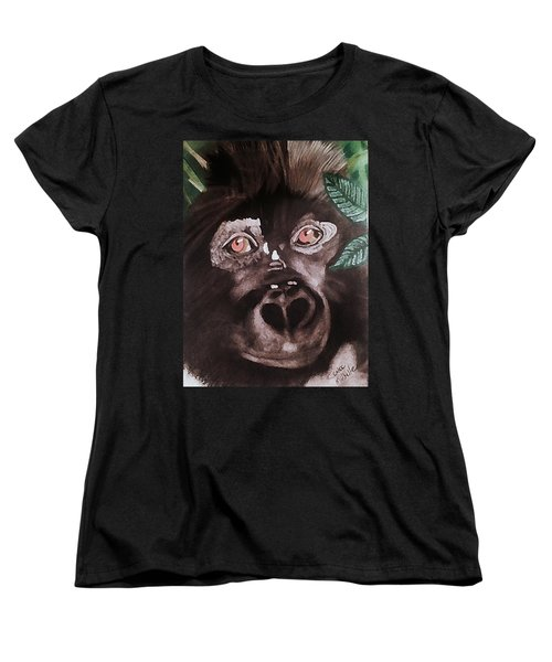 Young Gorilla Women's T-Shirt (Standard Cut) by Renee Michelle Wenker