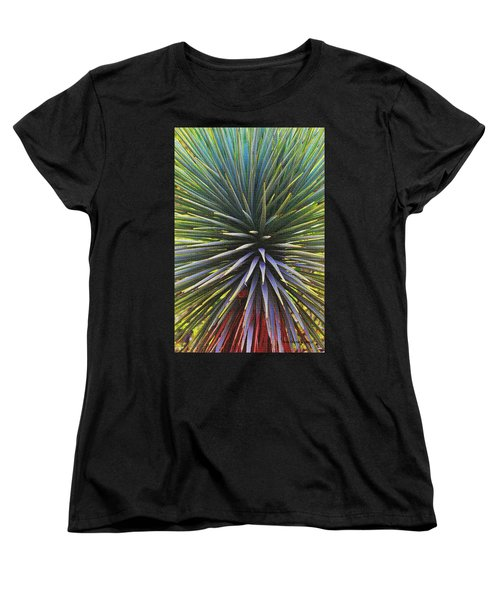 Women's T-Shirt (Standard Cut) featuring the photograph Yucca At The Arboretum by Tom Janca