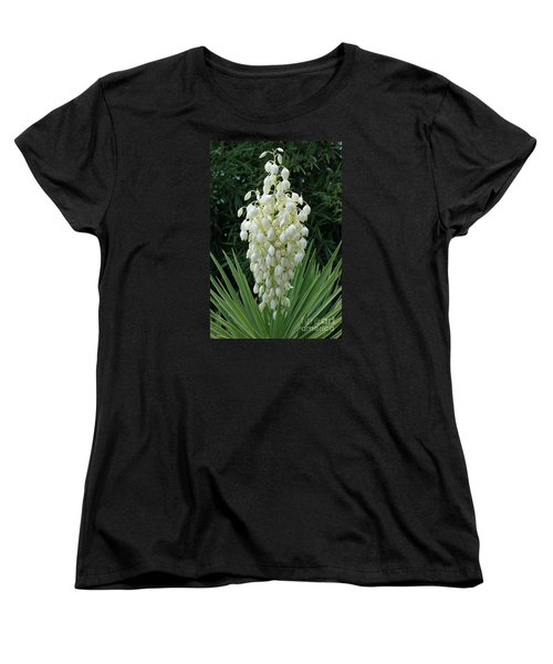 Yucca Blossoms Women's T-Shirt (Standard Cut) by Christiane Schulze Art And Photography