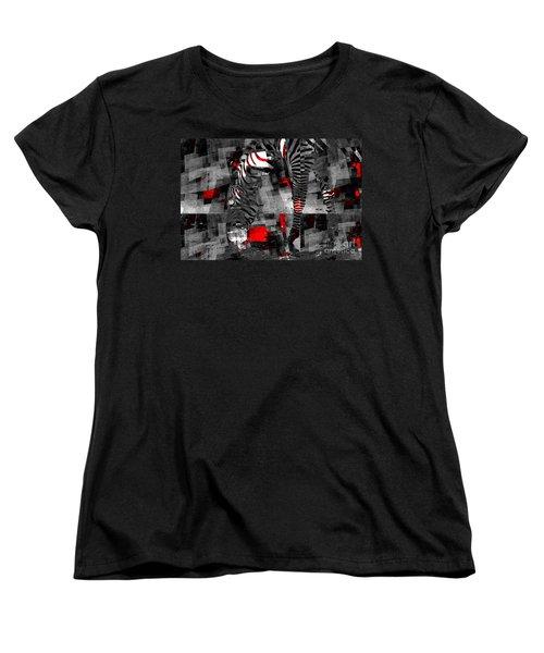 Zebra Art - 56a Women's T-Shirt (Standard Cut) by Variance Collections