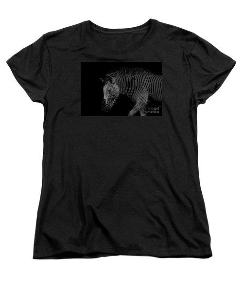 Zebra Art Women's T-Shirt (Standard Cut) by Bianca Nadeau