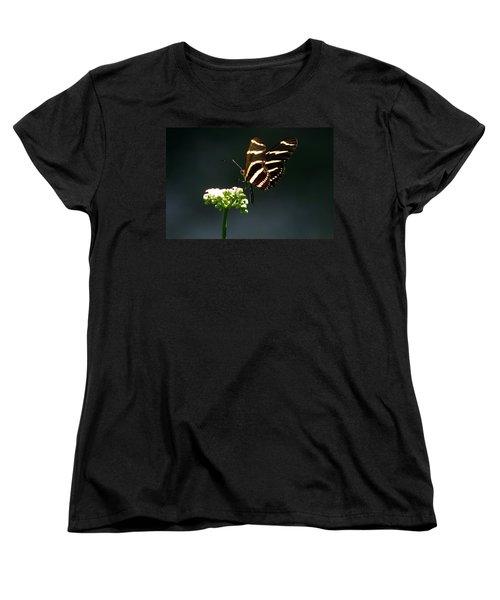 Zebra Longwing Women's T-Shirt (Standard Cut) by Greg Allore