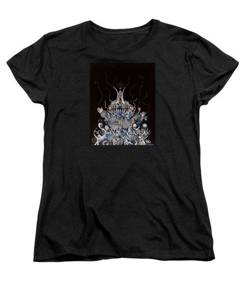 Zebratiki Women's T-Shirt (Standard Cut) by Douglas Fromm