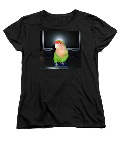 Women's T-Shirt (Standard Cut) featuring the photograph Zippy The Lovebird by Joan Reese