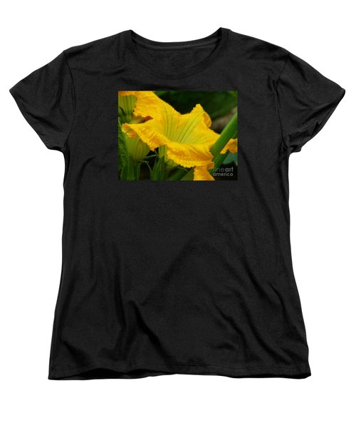 Women's T-Shirt (Standard Cut) featuring the photograph Zucchini Yellow by Lew Davis