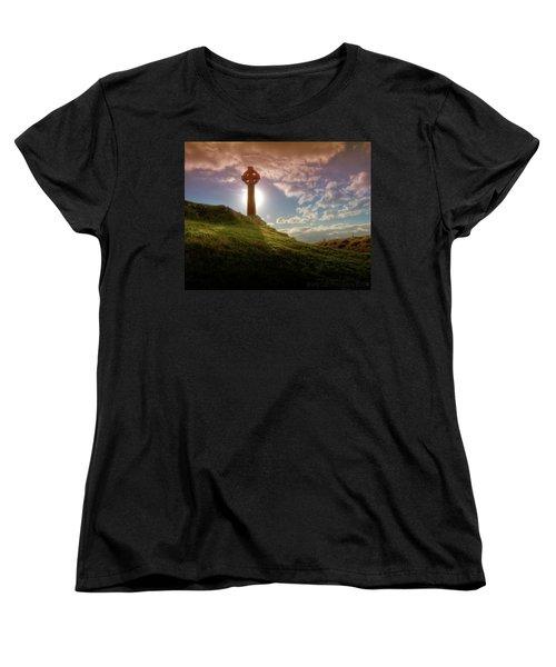 Celtic Cross Women's T-Shirt (Standard Cut) by Beverly Cash