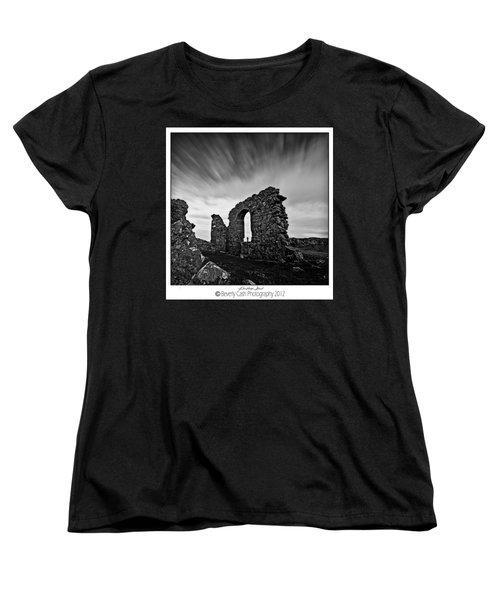 Llanddwyn Island Ruins Women's T-Shirt (Standard Cut) by Beverly Cash