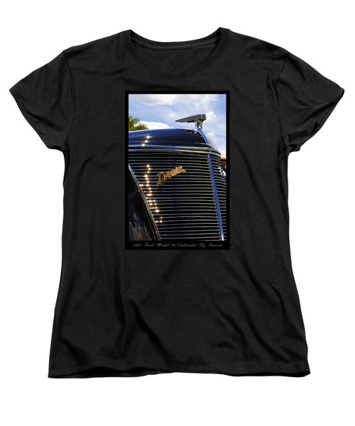 Women's T-Shirt (Standard Cut) featuring the photograph 1937 Ford Model 78 Cabriolet Convertible By Darrin by Gordon Dean II