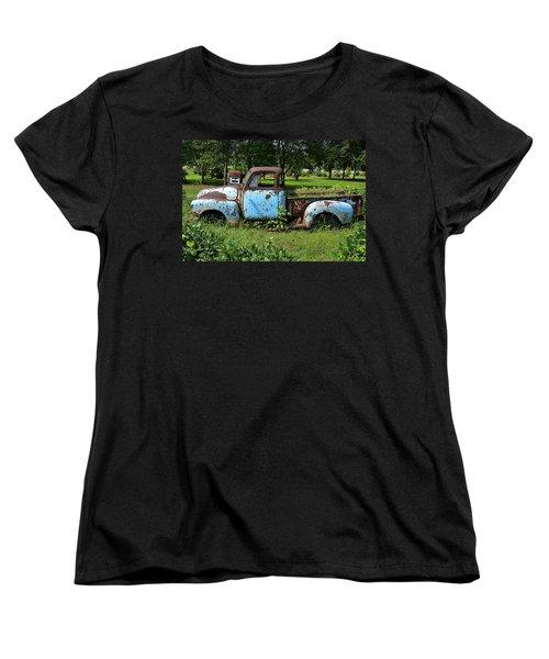 Women's T-Shirt (Standard Cut) featuring the photograph '48 Chevy by Paul Mashburn