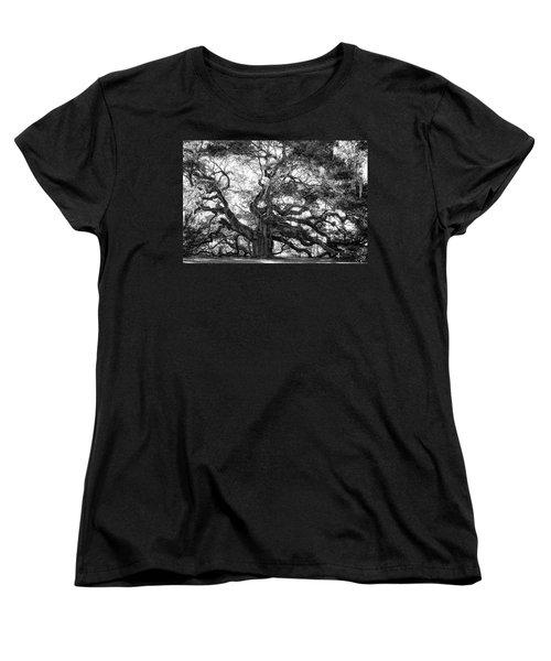 Angel Oak Women's T-Shirt (Standard Cut) by Lynne Jenkins