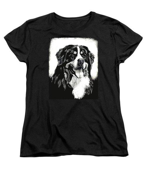 Bernese Mountain Dog Women's T-Shirt (Standard Cut) by Rachel Hames