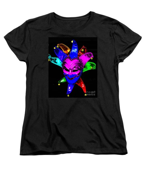 Women's T-Shirt (Standard Cut) featuring the digital art Carnival Mask by Blair Stuart