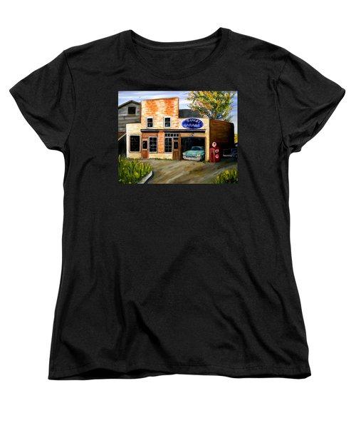 Duke's Garage Women's T-Shirt (Standard Cut) by Renate Nadi Wesley