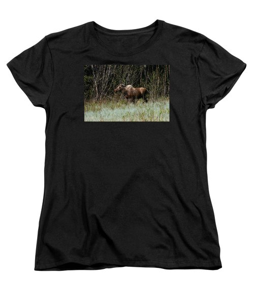 Women's T-Shirt (Standard Cut) featuring the photograph Feeding Along by Doug Lloyd