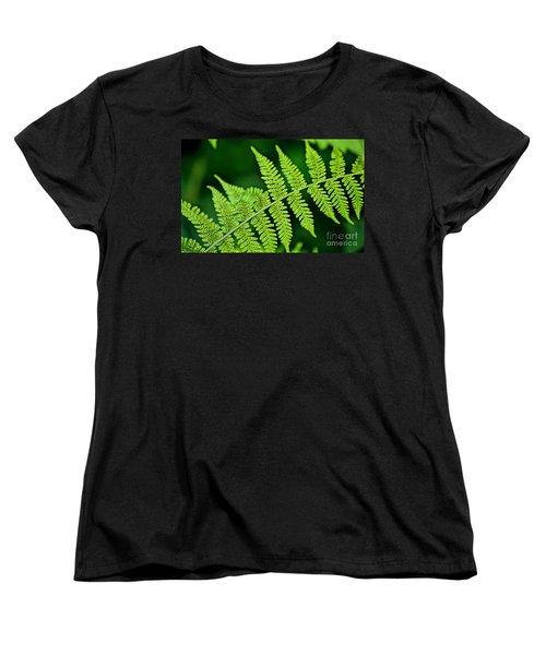 Women's T-Shirt (Standard Cut) featuring the photograph Fern Seed by Sharon Elliott