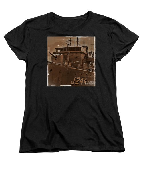 Women's T-Shirt (Standard Cut) featuring the photograph Hmas Castlemaine 4 by Blair Stuart