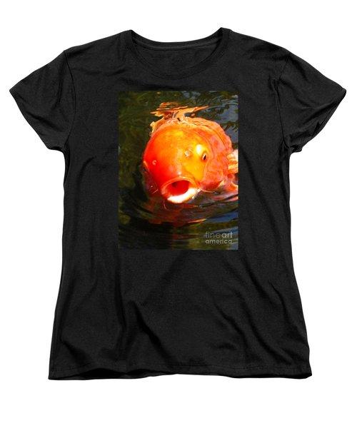 Koi Fish Women's T-Shirt (Standard Cut) by Angela Murray