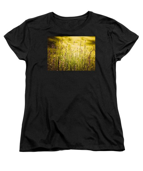 Women's T-Shirt (Standard Cut) featuring the photograph Lavender Gold by Sara Frank