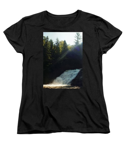 Women's T-Shirt (Standard Cut) featuring the photograph Morning Waterfall by Stacy C Bottoms