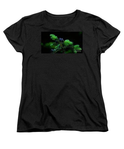 Women's T-Shirt (Standard Cut) featuring the photograph Mountain Life by Sharon Elliott