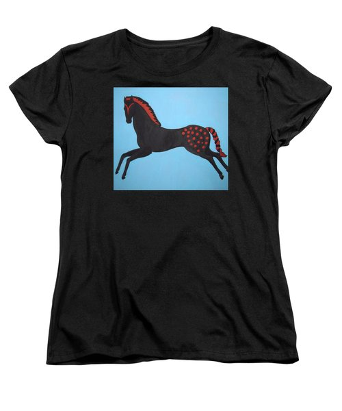 Painted Pony Women's T-Shirt (Standard Cut) by Stephanie Moore