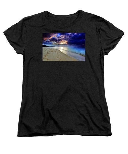 Women's T-Shirt (Standard Cut) featuring the photograph Port Stephens Sunset by Paul Svensen