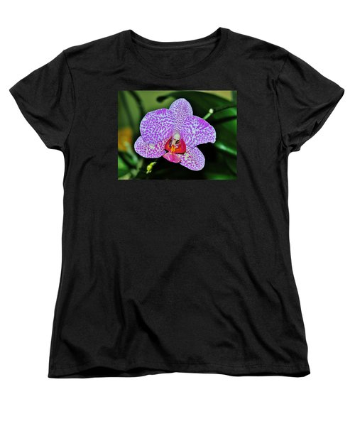 Women's T-Shirt (Standard Cut) featuring the photograph Purple Orchid by Sherman Perry