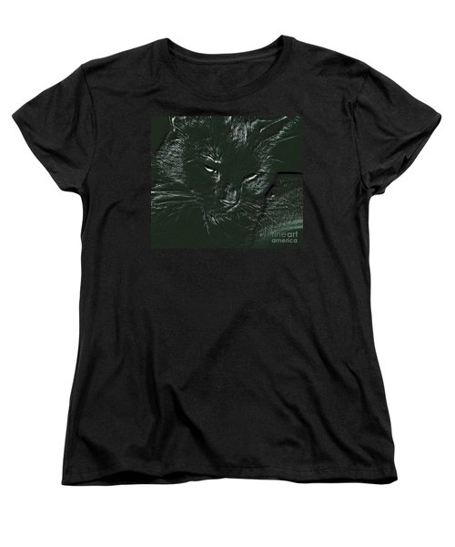 Women's T-Shirt (Standard Cut) featuring the photograph Satin by Donna Brown