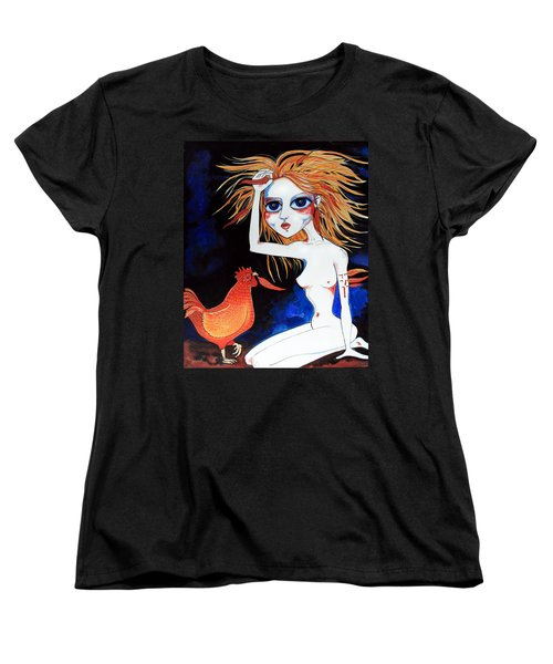 Women's T-Shirt (Standard Cut) featuring the painting Sorry by Leanne Wilkes