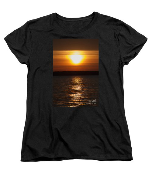 Women's T-Shirt (Standard Cut) featuring the photograph Sunrise On Seneca Lake by William Norton