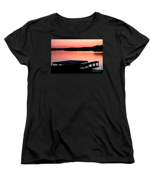 Women's T-Shirt (Standard Cut) featuring the photograph Sunset View From Dockside by Kathy  White
